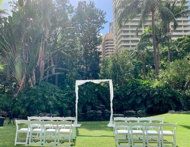 Botanical Gardens Brisbane City wedding