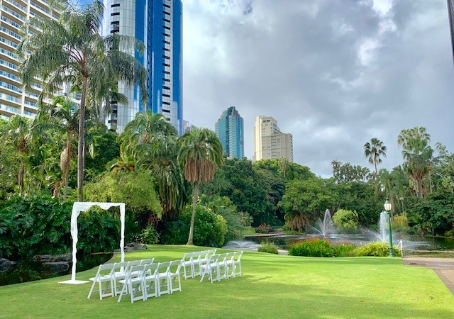 Botanical Gardens Brisbane wedding
