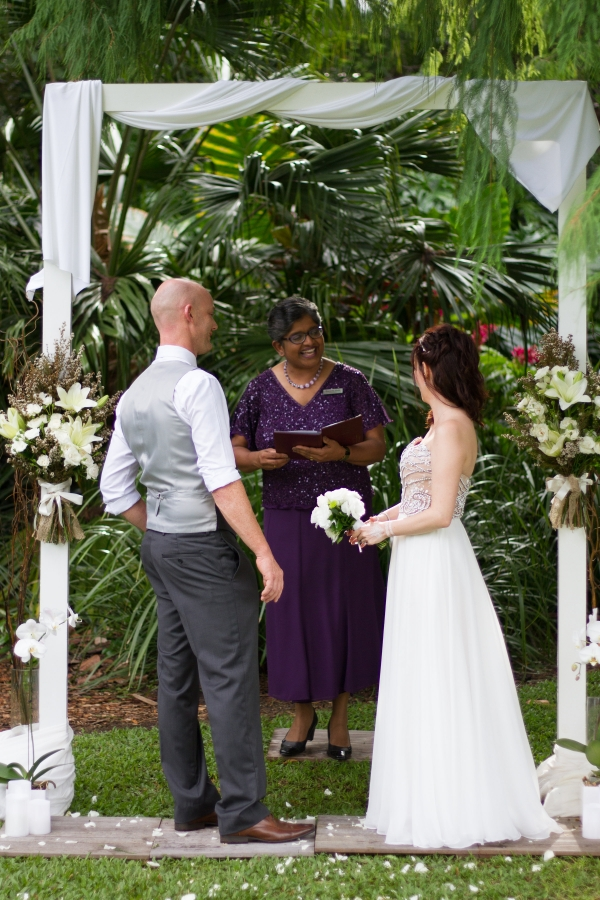 Brisbane Botanic Gardens wedding decor
