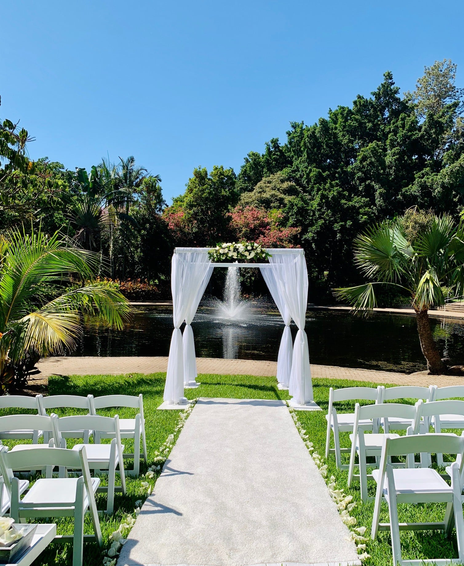 Brisbane City Botanic Gardens wedding ceremony