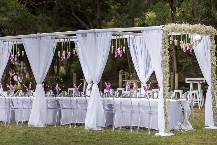 outdoor wedding styling Brisbane
