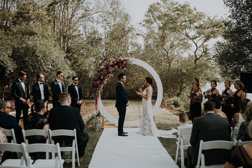 wedding ceremony décor styling