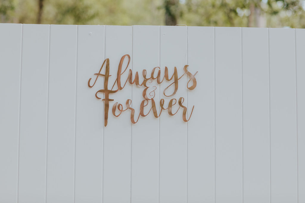 wedding backdrop sign