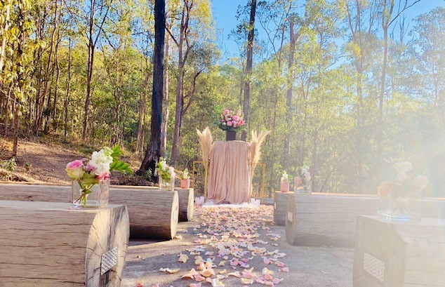 Bush Chapel Mt Coot-tha wedding decor
