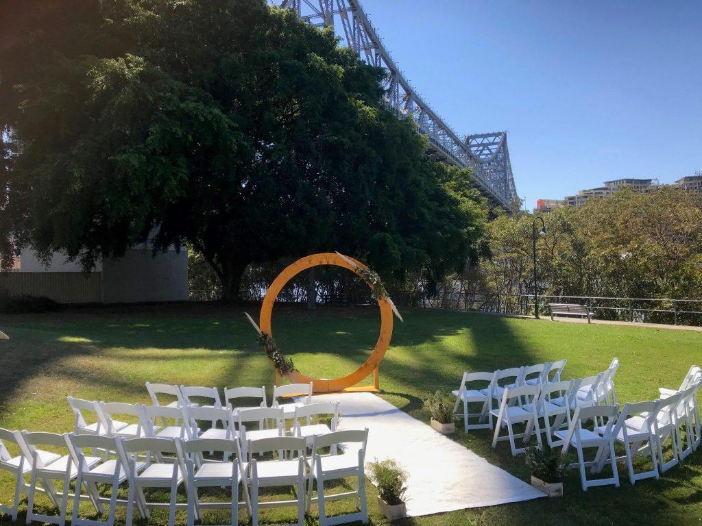 Circle Wedding backdrop Brisbane