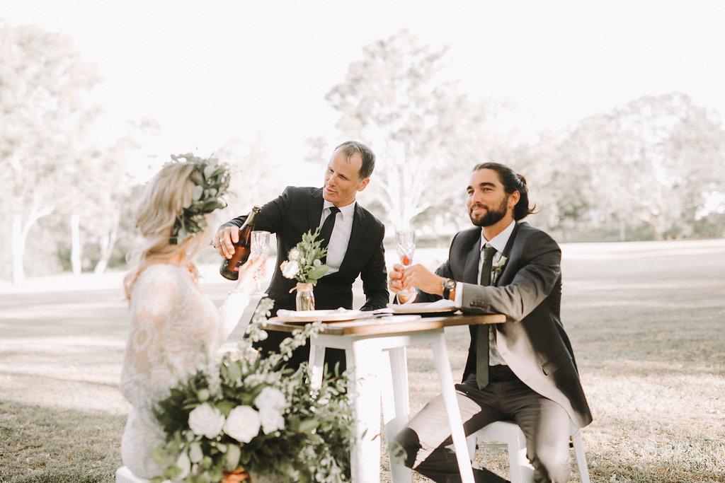 wedding bar table and stools
