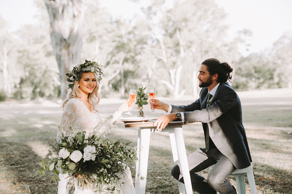 Outdoor wedding styling Brisbane