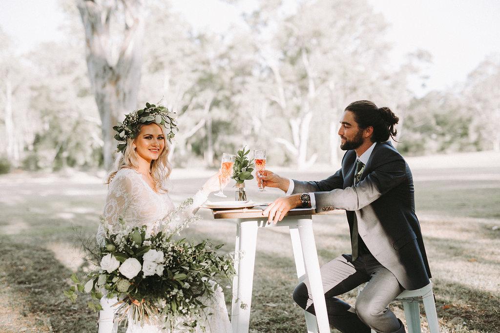 wedding cocktail hour setting Brisbane