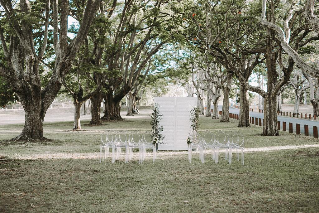 Colsmlie Beach Reserve Wedding backdrop Brisbane