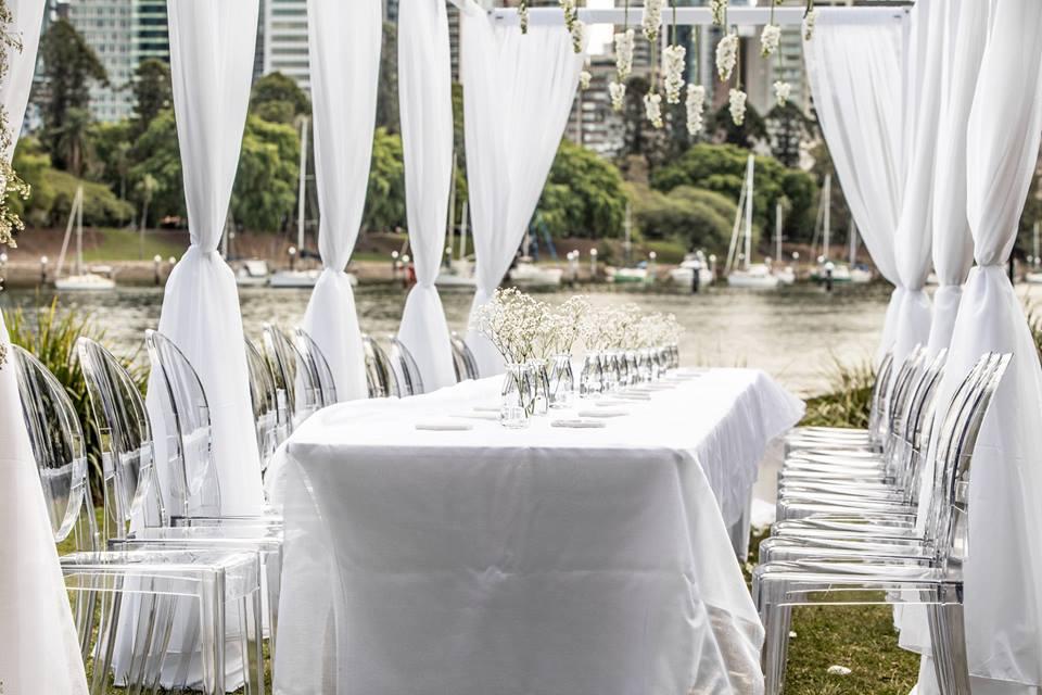 luxury wedding ceremony styling Brisbane