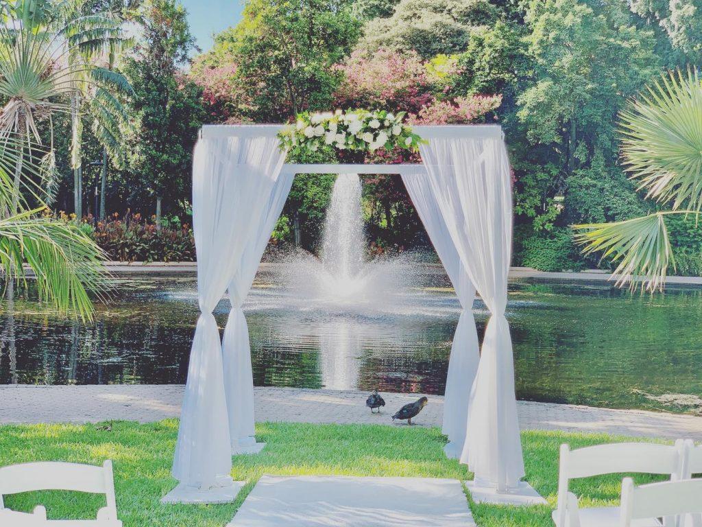 Four post wedding arch