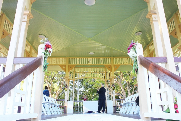 Inward facing rotunda wedding ceremony New Farm
