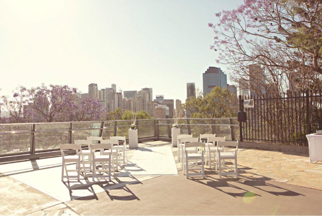 Kangaroo Pt Wedding Riverview ceremony site