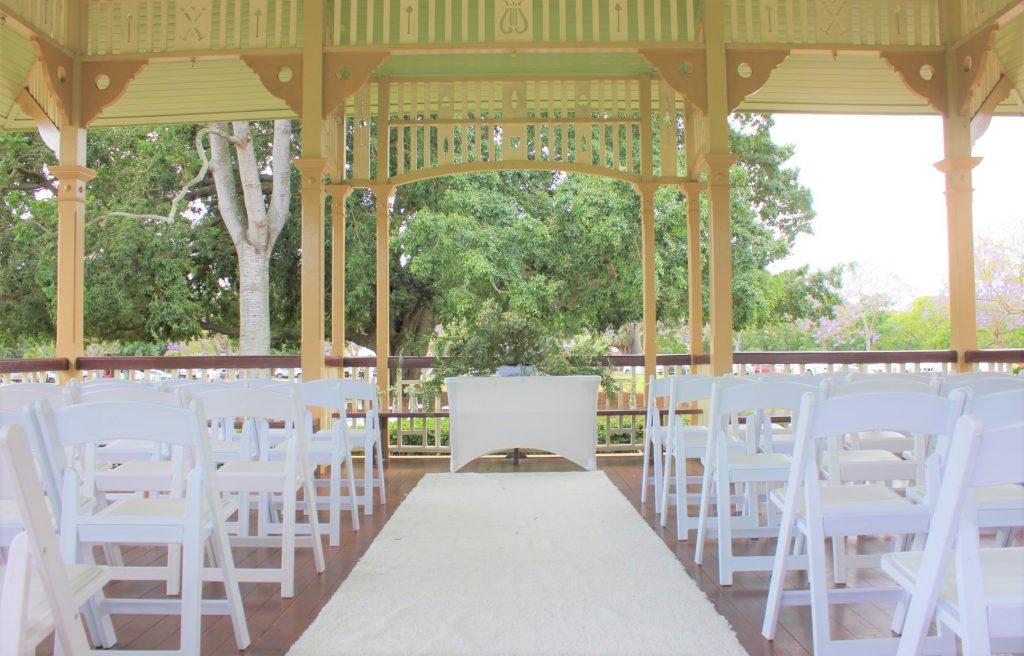 New Farm Park Rotunda Wedding hire