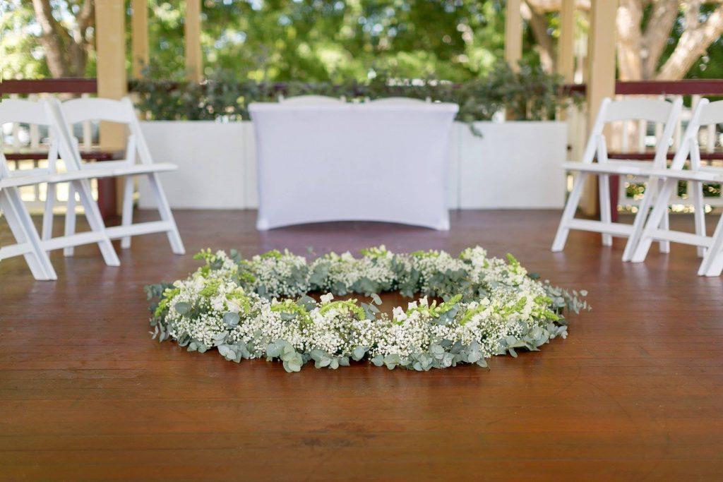 New Farm Park Rotunda wedding setting