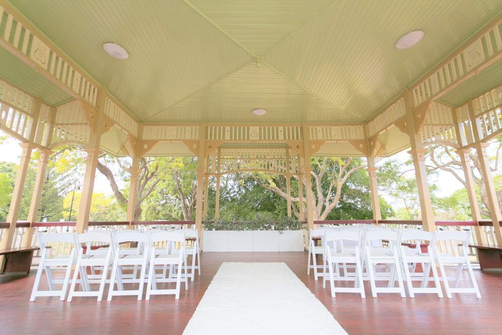 New Farm Wedding ceremony aisle pillars