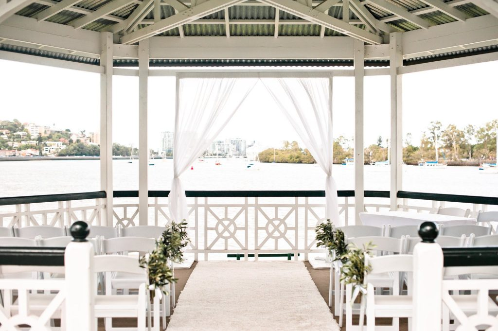 Newstead Rotunda wedding ceremony decoration