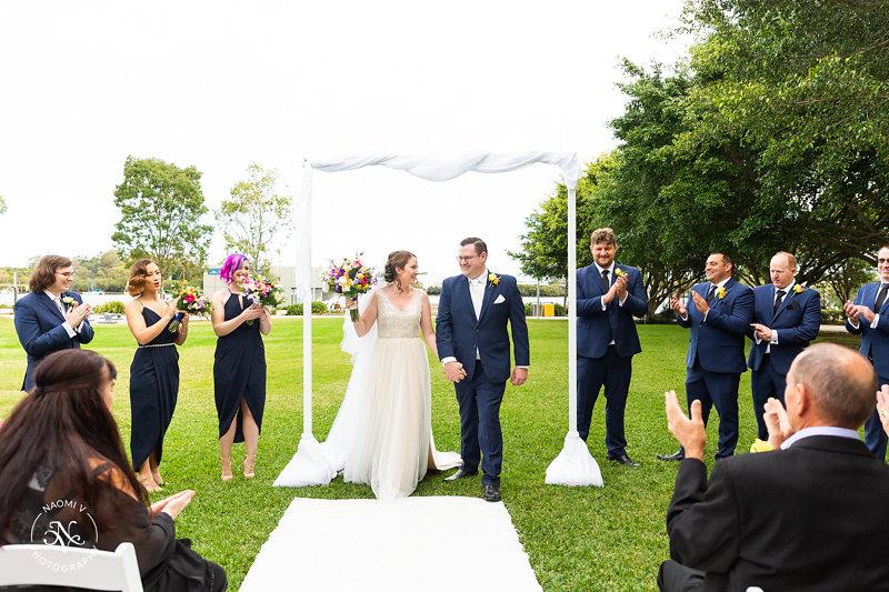 Brisbane wedding arch styling