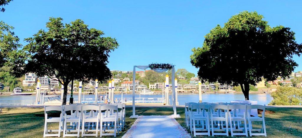 Powerhouse view wedding New Farm