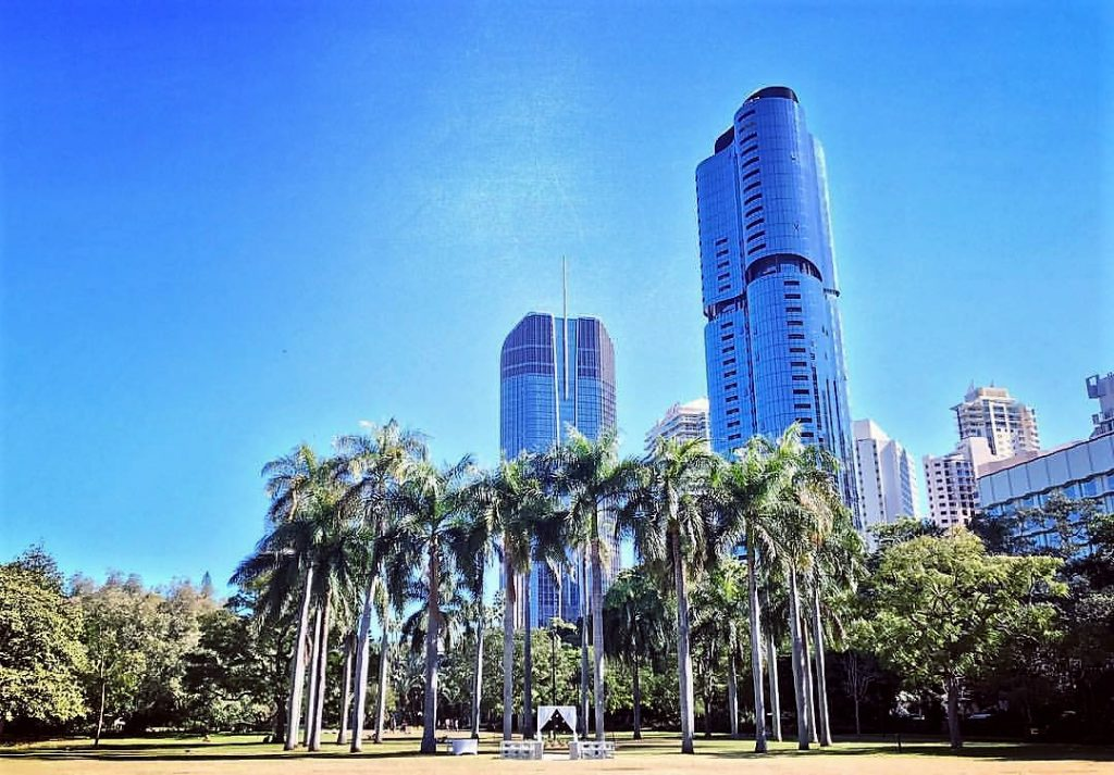 Brisbane City Botanic Gardens Wedding Royal Palm Lawn