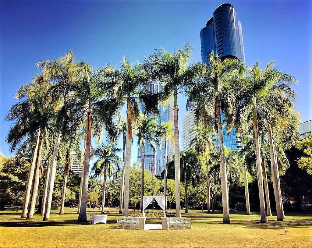 Royal Palm Lawn Brisbane City Botanic Gardens Wedding