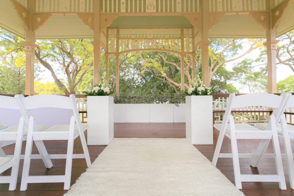 Wedding Aisle Pillars with flowers