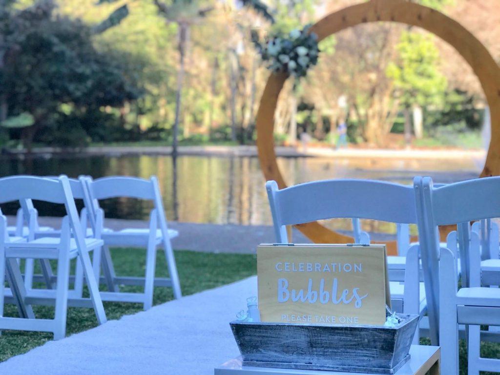 Wedding Ceremony Bubbles Brisbane