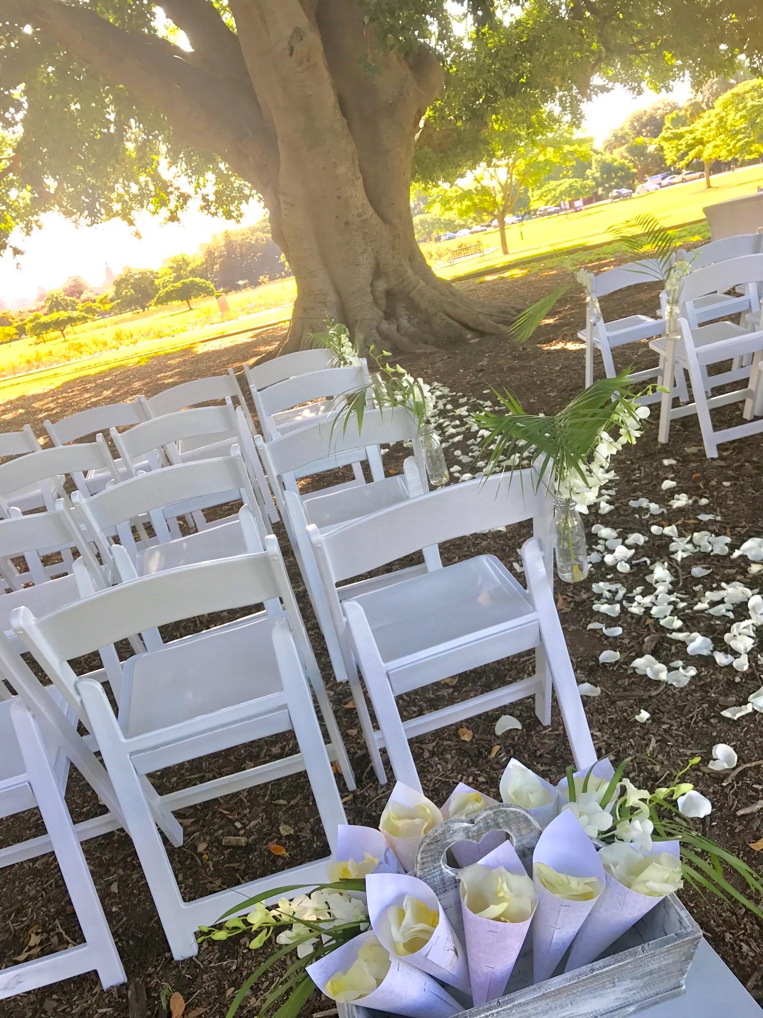 Wedding Ceremony Set up New Farm Park