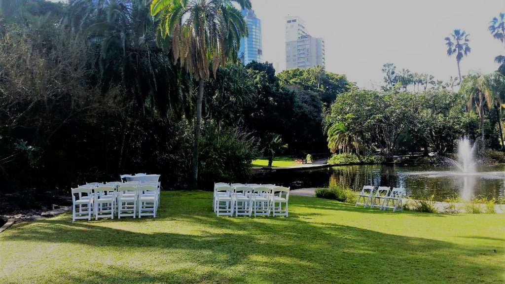 Wedding Chair Hire Brisbane City Botanic Gardens