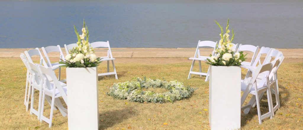 Wedding Chair Hire Circular ceremony
