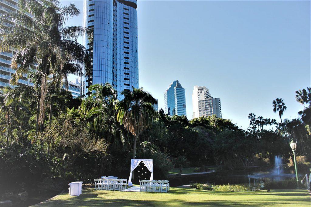 Wedding Lawn Brisbane City Botanical Gardens