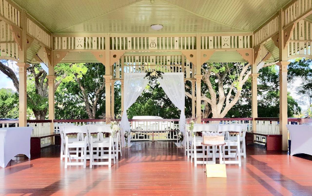 Wedding arbour New Farm Park Rotunda