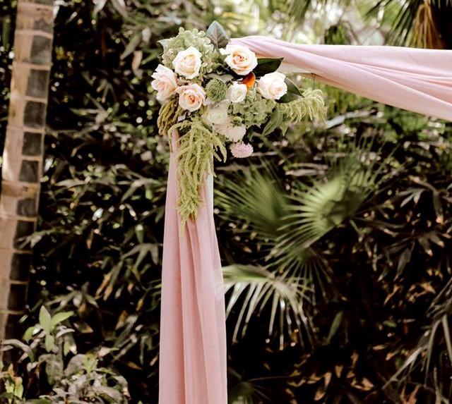 Wedding decor Brisbane Botanical Gardens