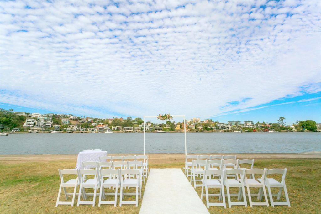 White wedding arbour hire Brisbane