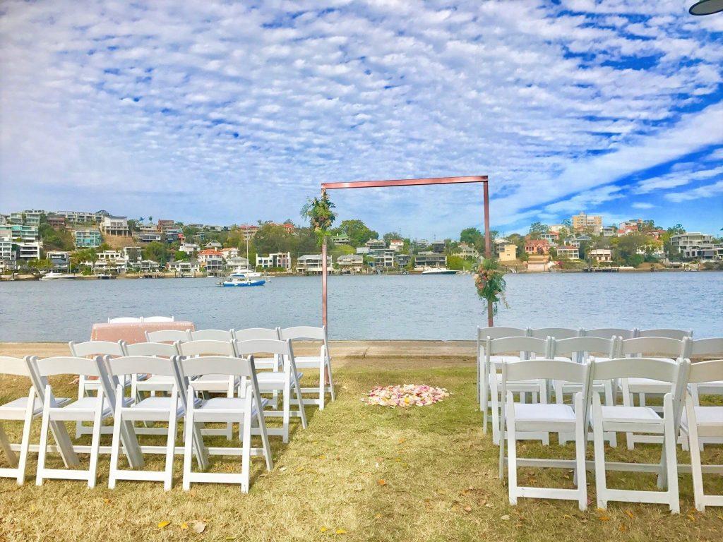gold wedding arch Brisbane