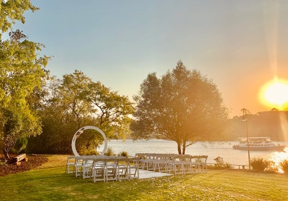 lower river terrace wedding ceremony