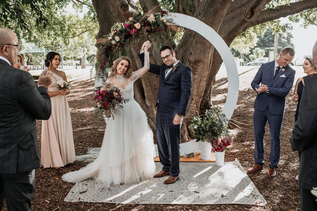 circle wedding arch Brisbane
