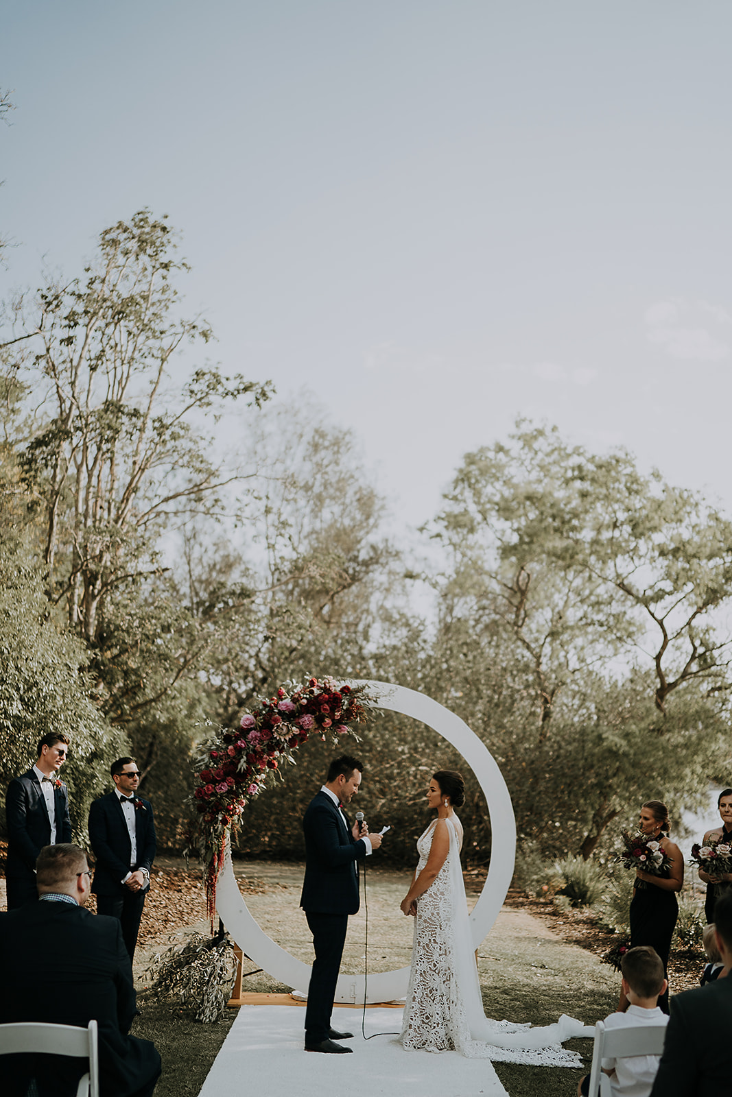 Circle wedding arbour Brisbane