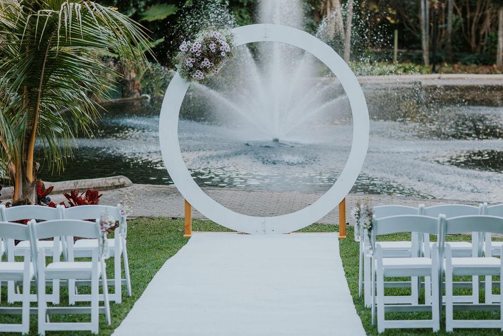 City Botanical gardens wedding decor