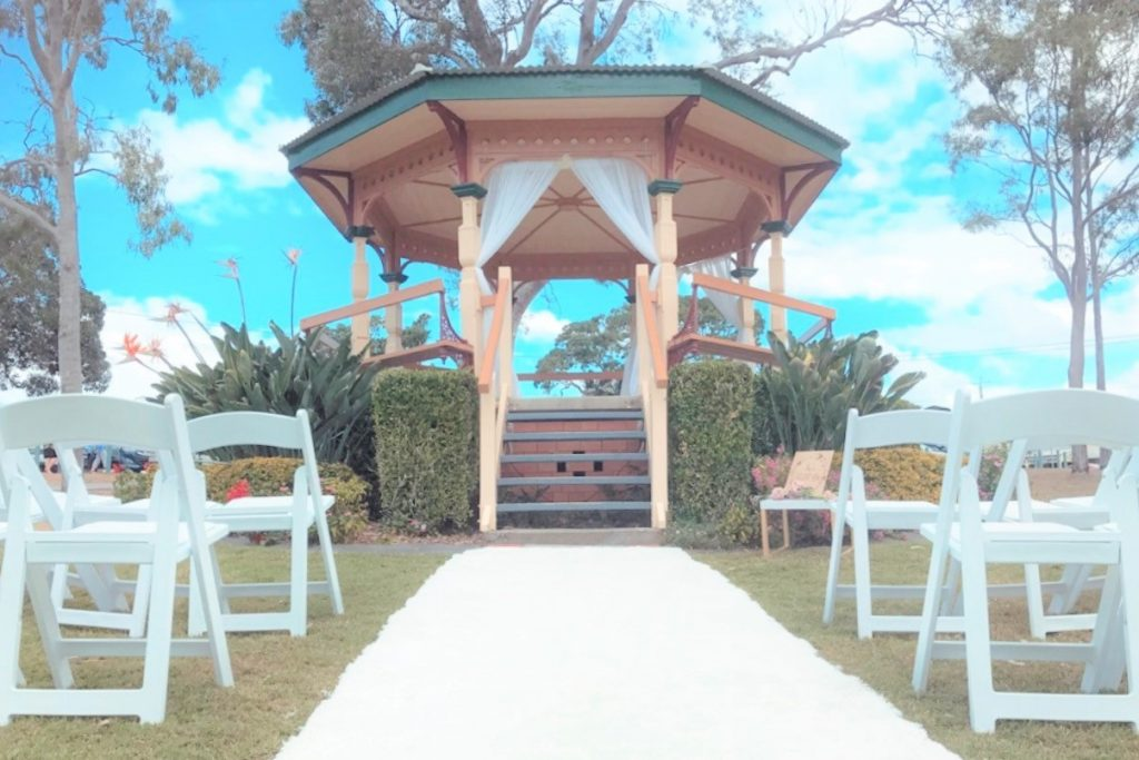 Moora Park Rotunda wedding