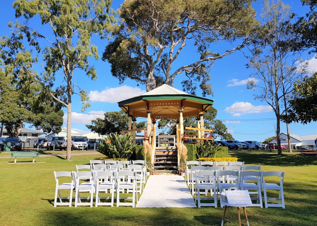 Moora Park Rotunda wedding decor