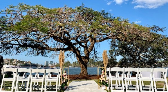 Newstead Park wedding styling Brisbane