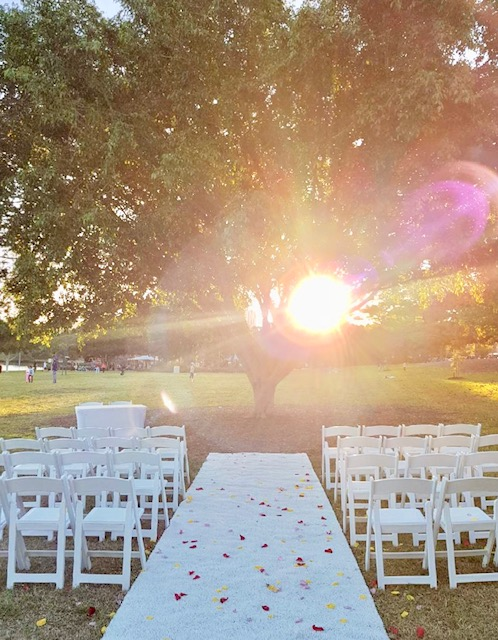 Orleigh Park wedding ceremony decor