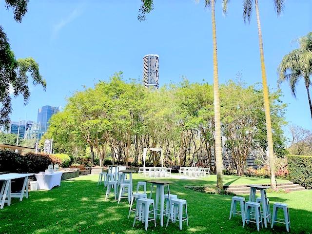 Palm Tree Court wedding