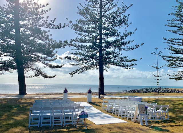 Scarborough Beach wedding ceremony