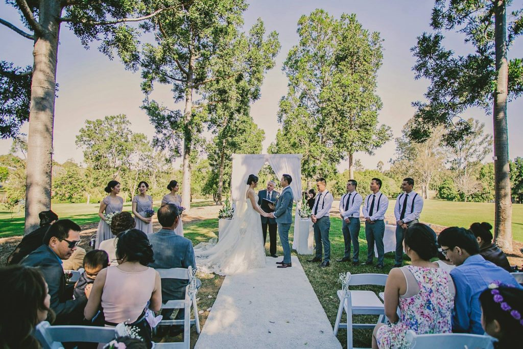 Sherwood Arboretum park wedding