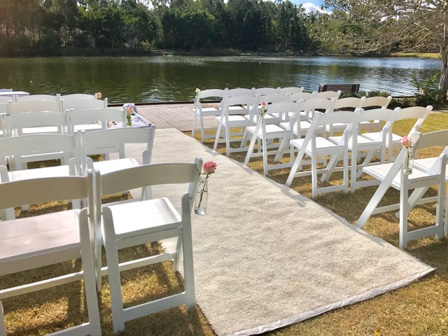 Springfield Lakes Wedding Ceremony setup