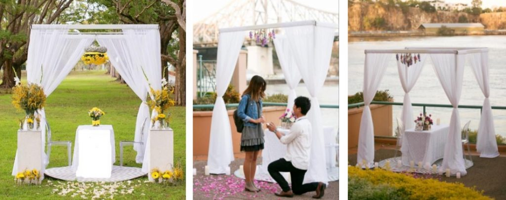Ultimate romantic styled proposal setting