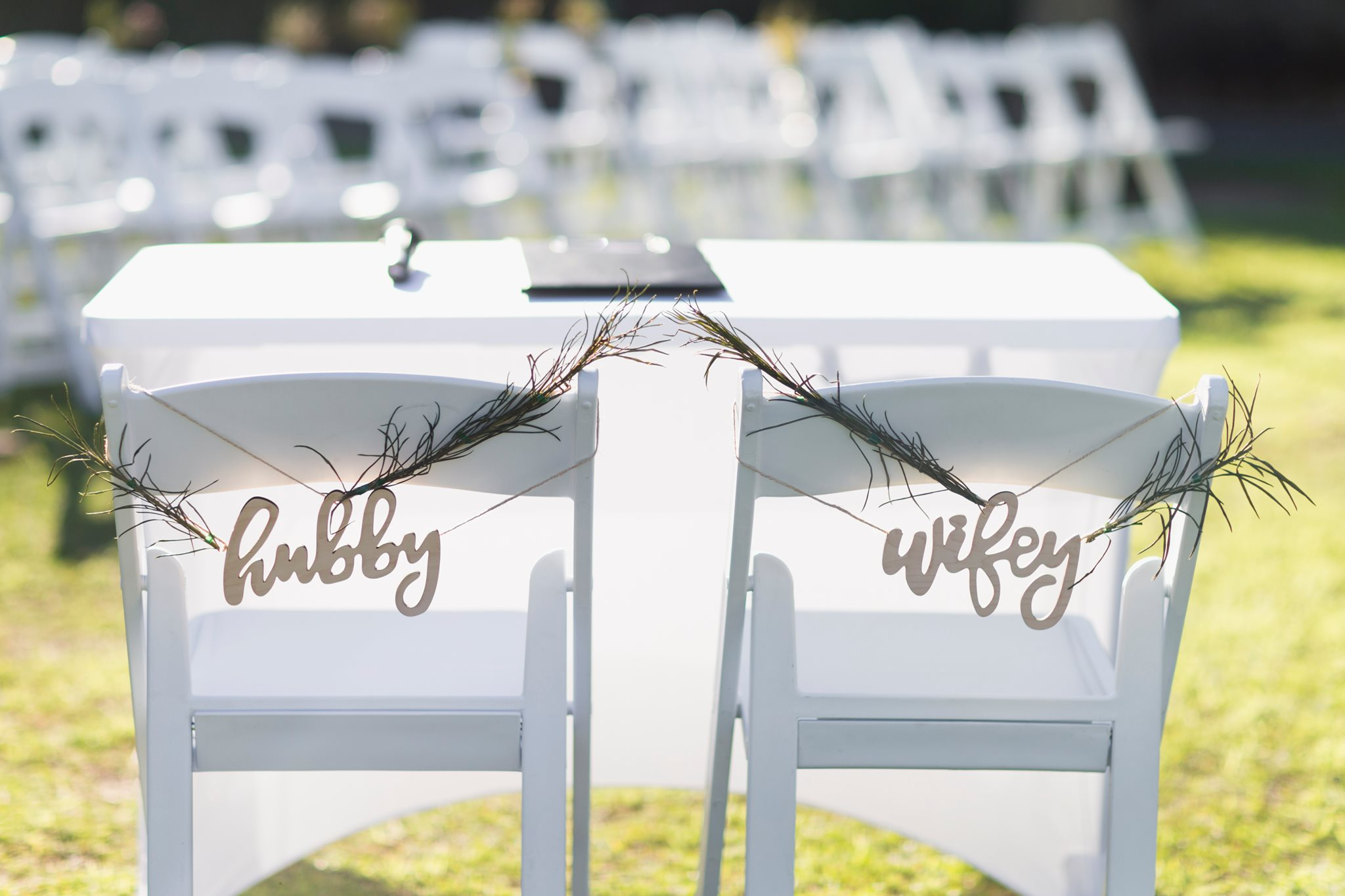 wedding chair signs decoration
