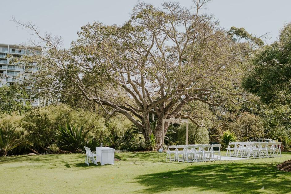 City View Saddle wedding ceremony